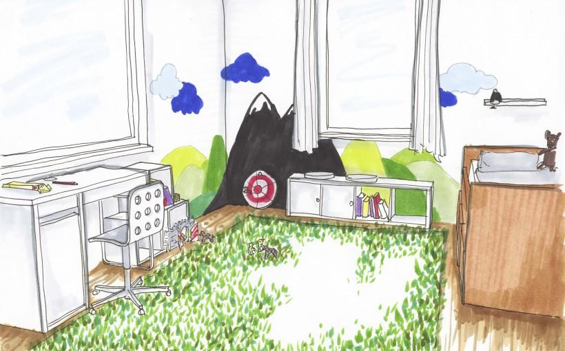 ein neues kinderzimmer f r lukas wohnberatung der schl ssel zum gl ck interior design f r. Black Bedroom Furniture Sets. Home Design Ideas