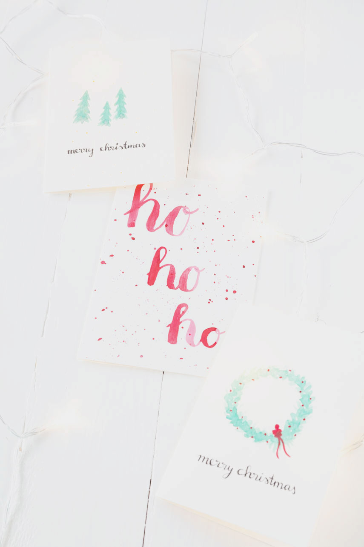 aquarellweihnachtskarten