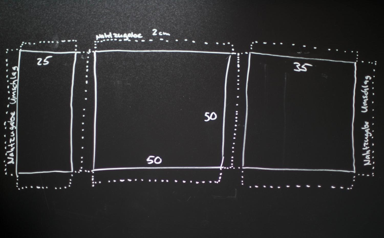 Kissen DIY Nähen Sticken Hotelverschloss schwarz weiß grün Samt-2