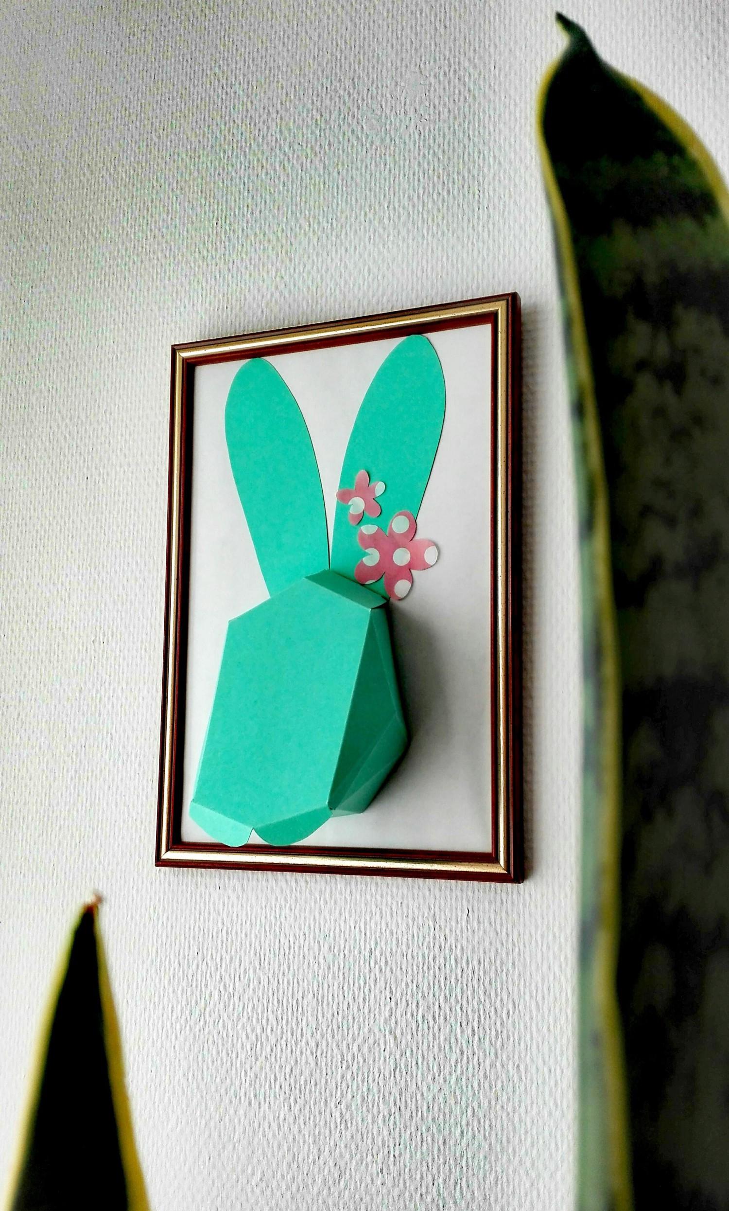 Papierhase DIY Bild Ostern