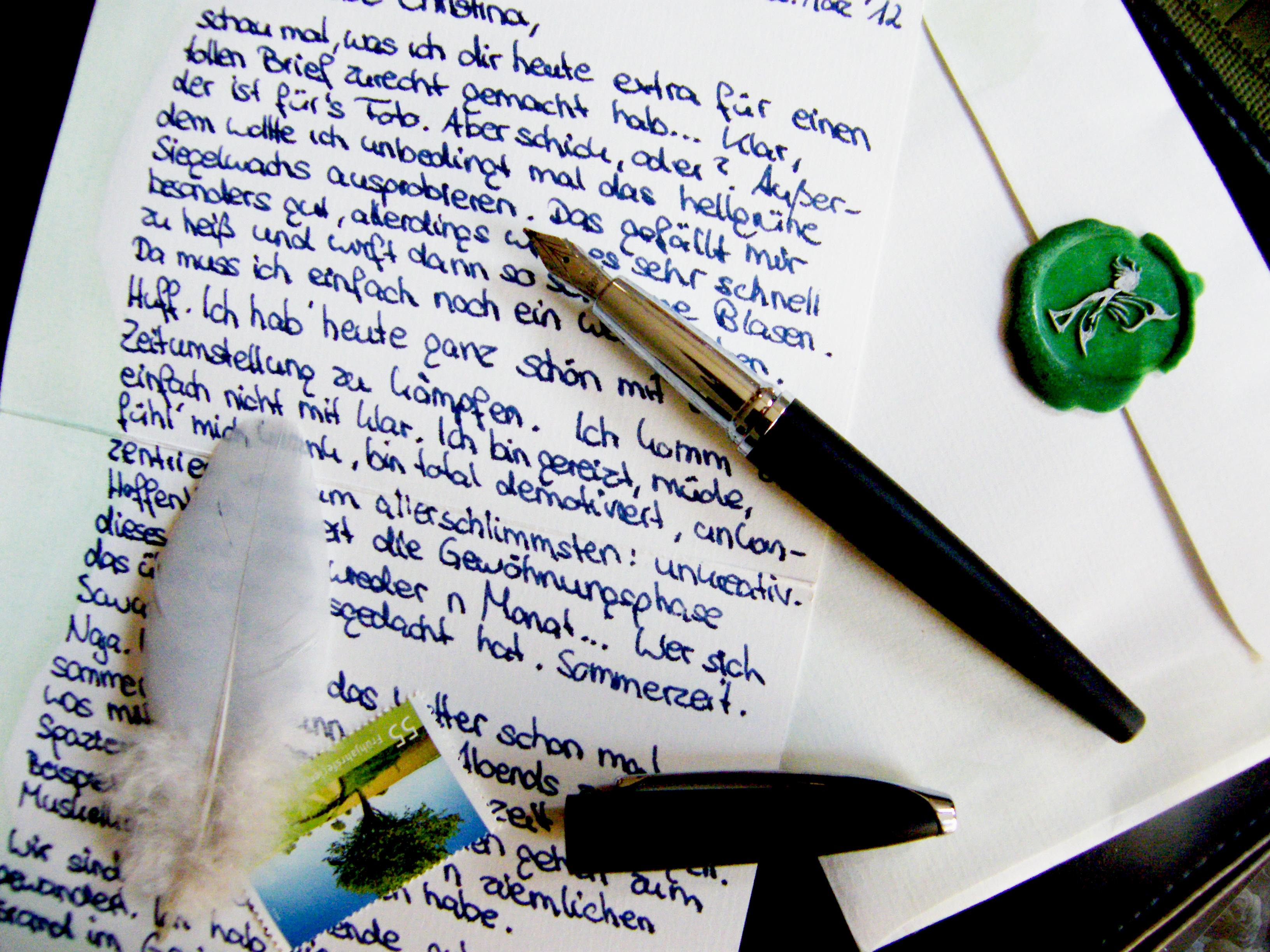 Briefe Für Oma : Briefe sind die fliegenden teppiche ins reich der