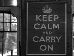 keep calm Titel grau