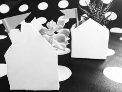 Häuschen Haus Sukulente DIY Ton Basteln Inspiration Interior
