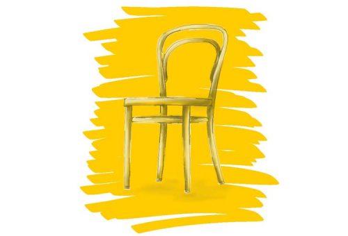 Stuhl Sketch Thonet Bugholz Klassiker Design Interior Innenarchitektur