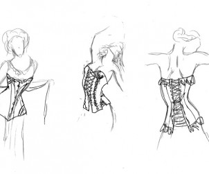 Dessous Shop Interdor Design, Ladendesign, Innenarchitektur, Portfolio Sketch