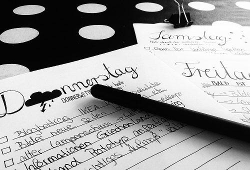 Printable To Do Liste, Einkaufszettel Lettering handlettering, Typografie Typographie