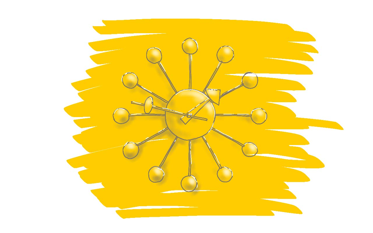 Designklassiker Ball Clock Von George Nelson, Vitra, Uhr, Sunburst, Wand,  Büro