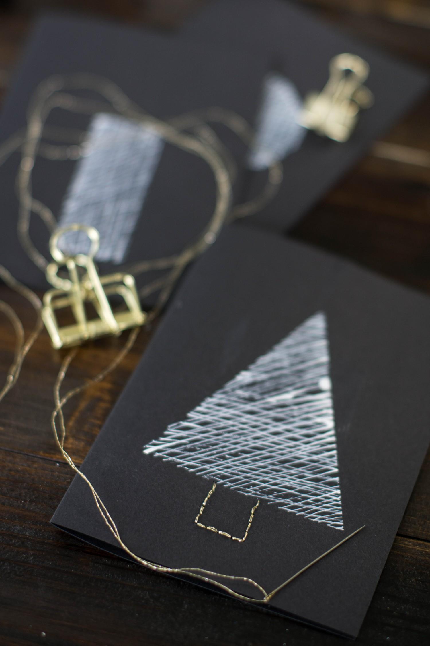 diy schnelle weihnachtskarten nur noch 9 mal schlafen. Black Bedroom Furniture Sets. Home Design Ideas