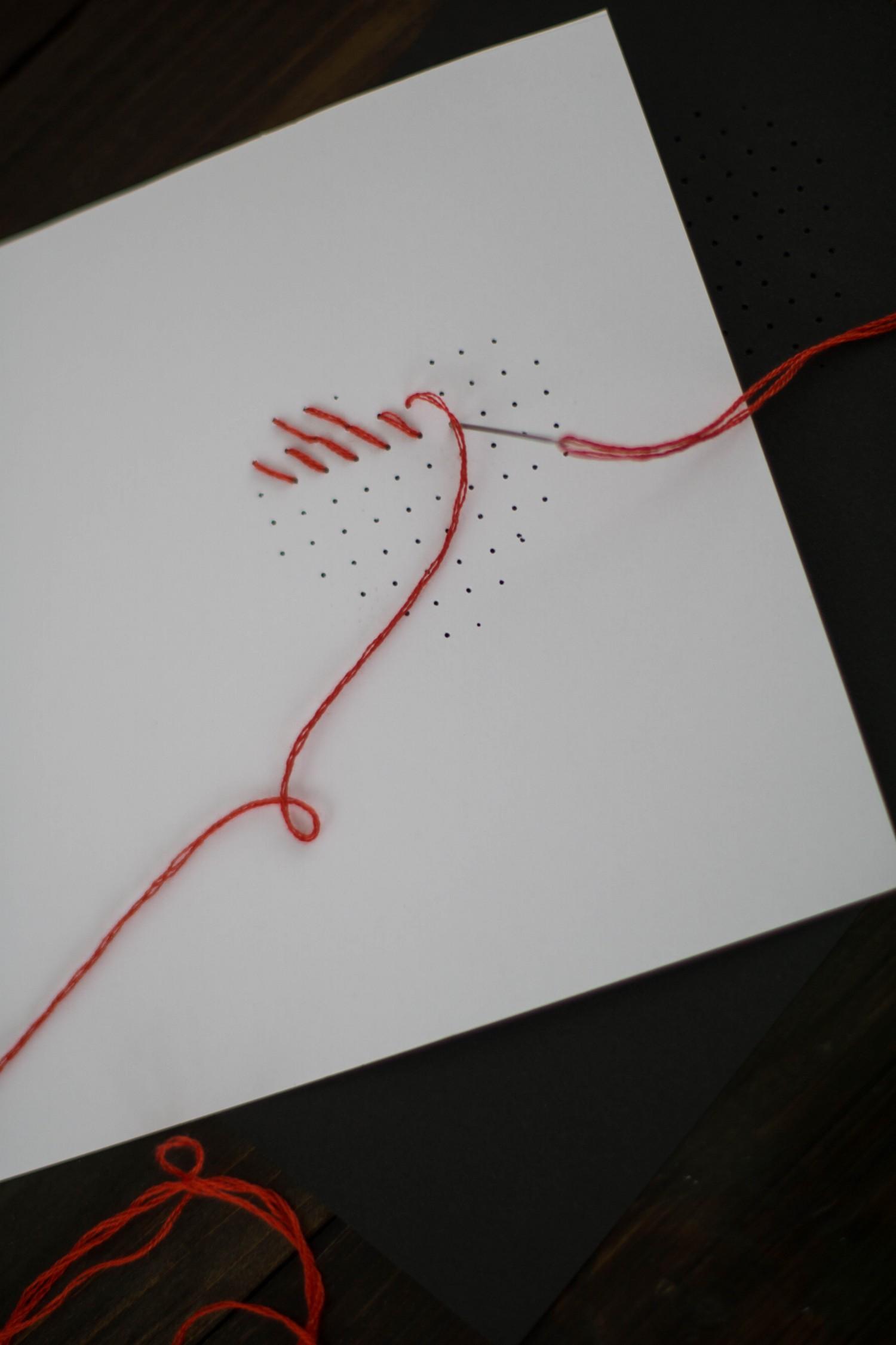 Bekannt DIY Karte Sticken Valentstag Herz-4 - Der Schlüssel zum Glück UV44