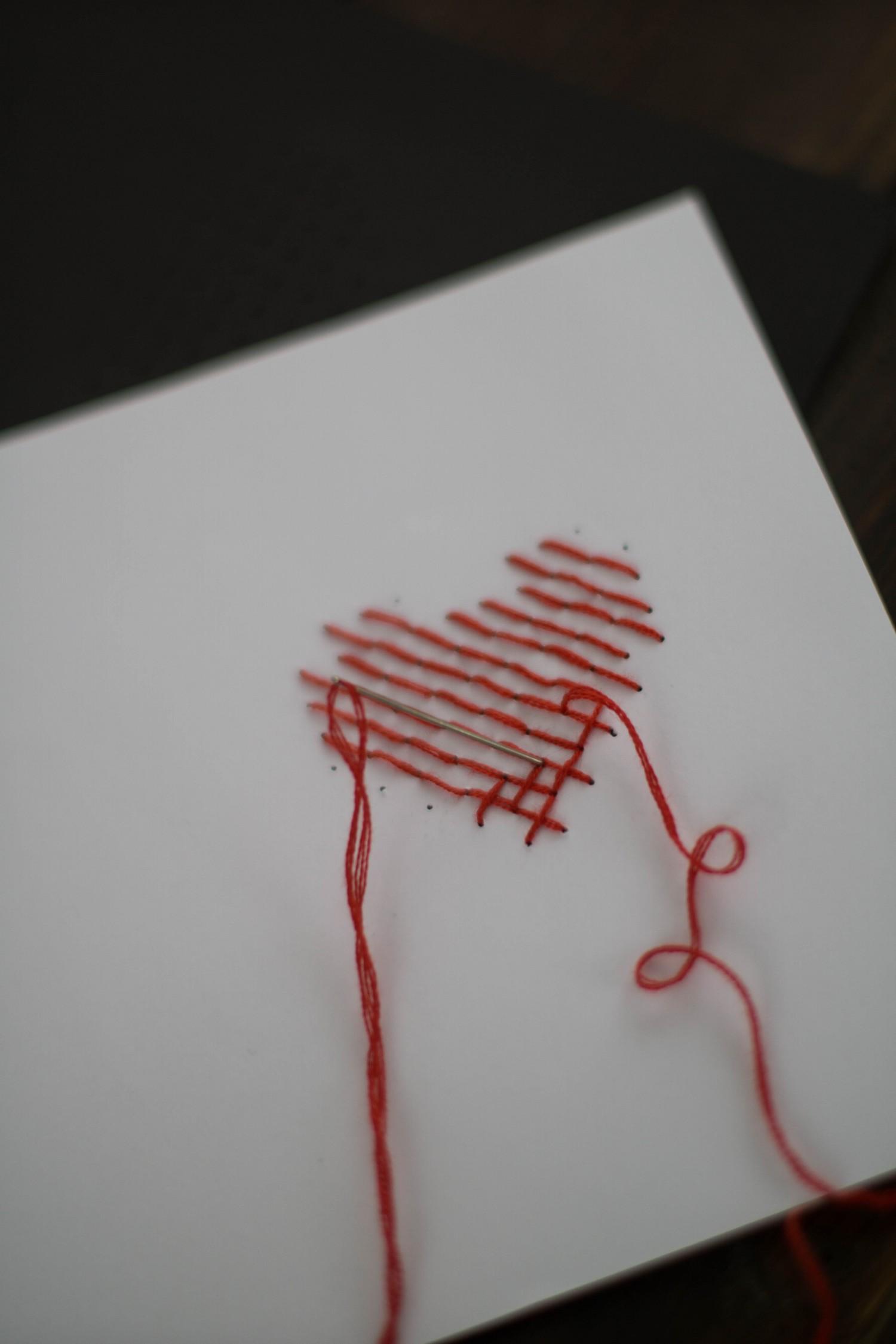 Bevorzugt DIY Karte Sticken Valentstag Herz-5 - Der Schlüssel zum Glück SD84