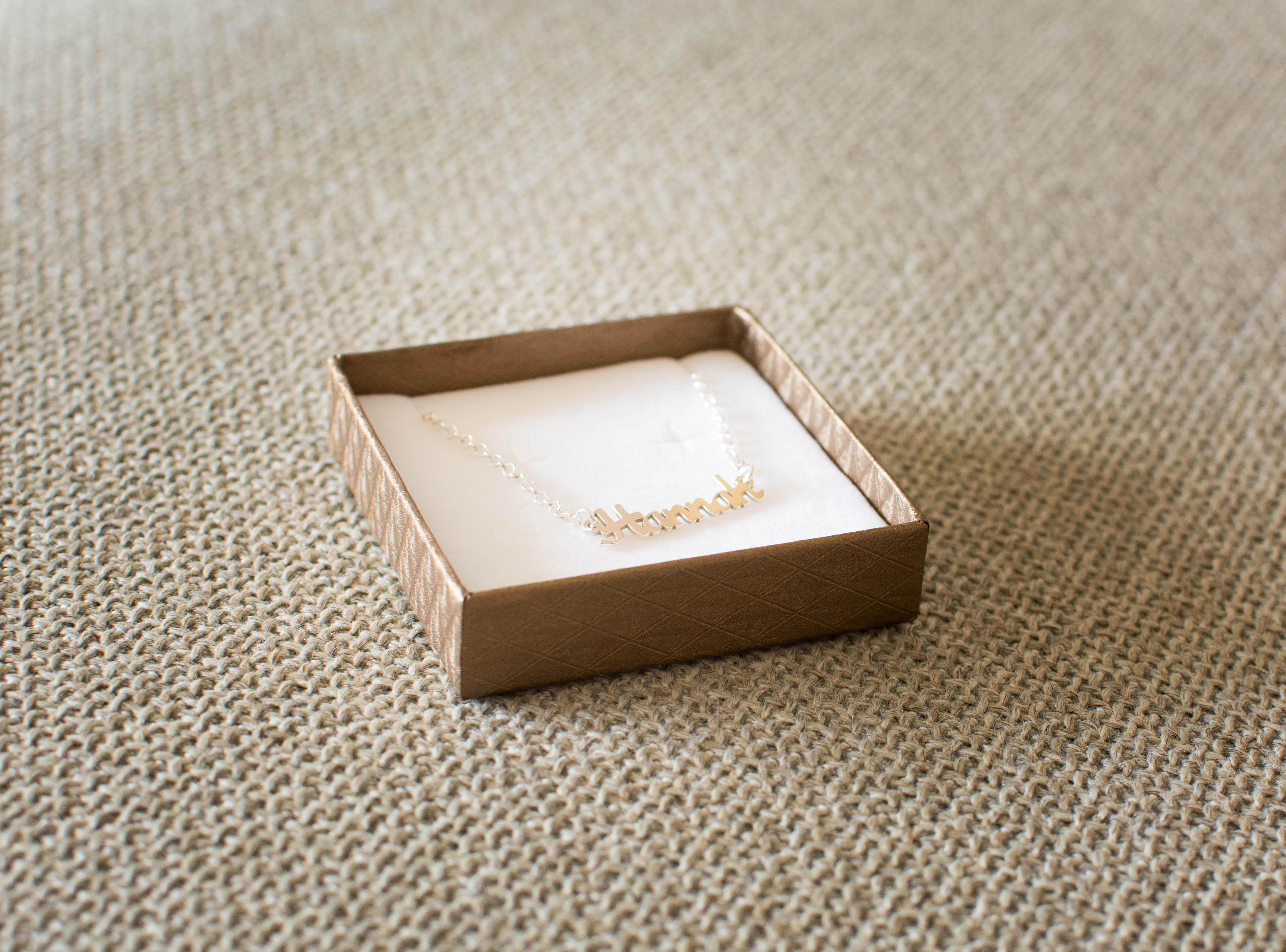 geschenk zur taufe namenskette aus silber der. Black Bedroom Furniture Sets. Home Design Ideas