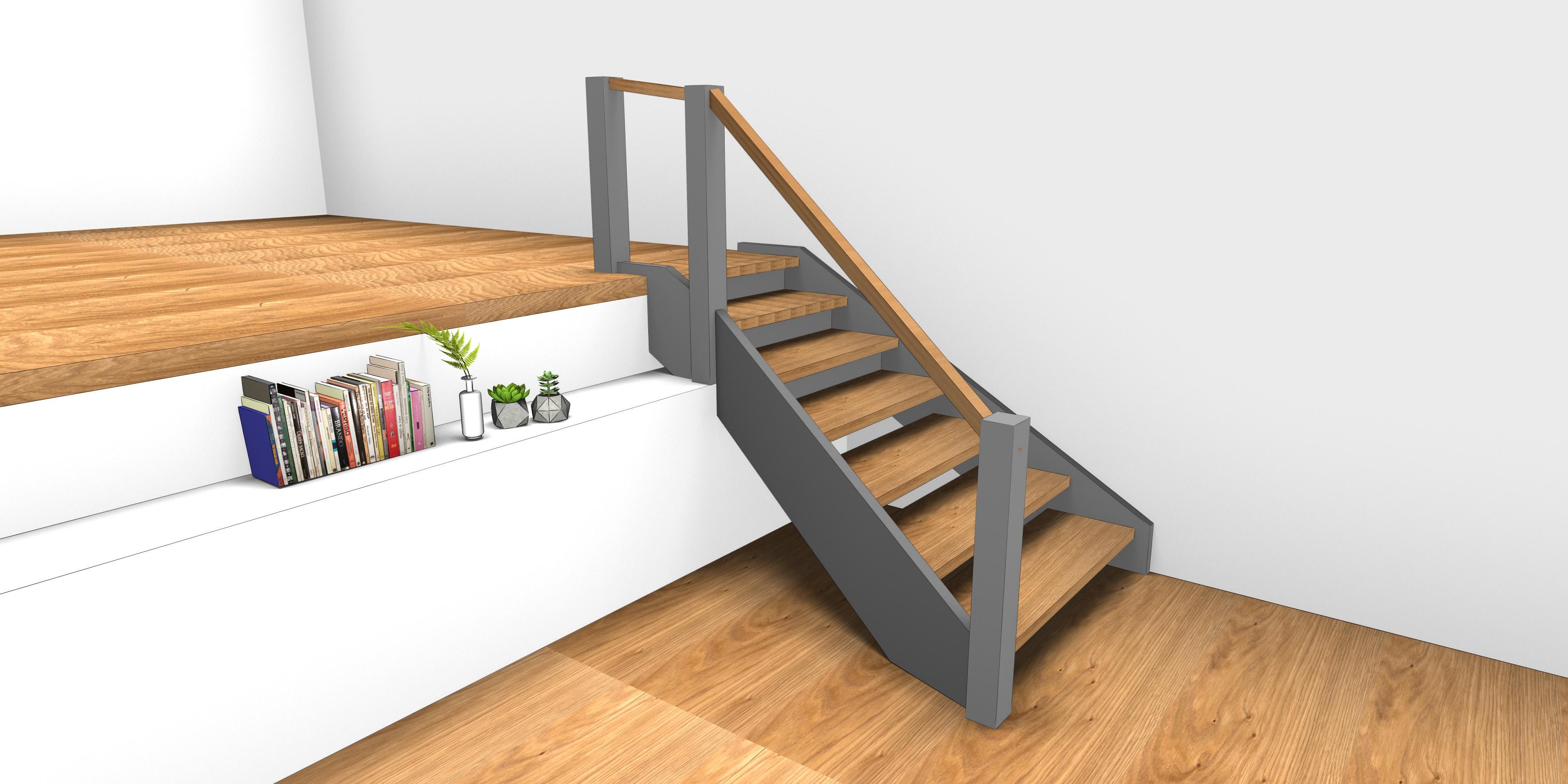 Treppe, Rendering, Entwurf, Innenarchitektur, Konstruktion, Schreiner