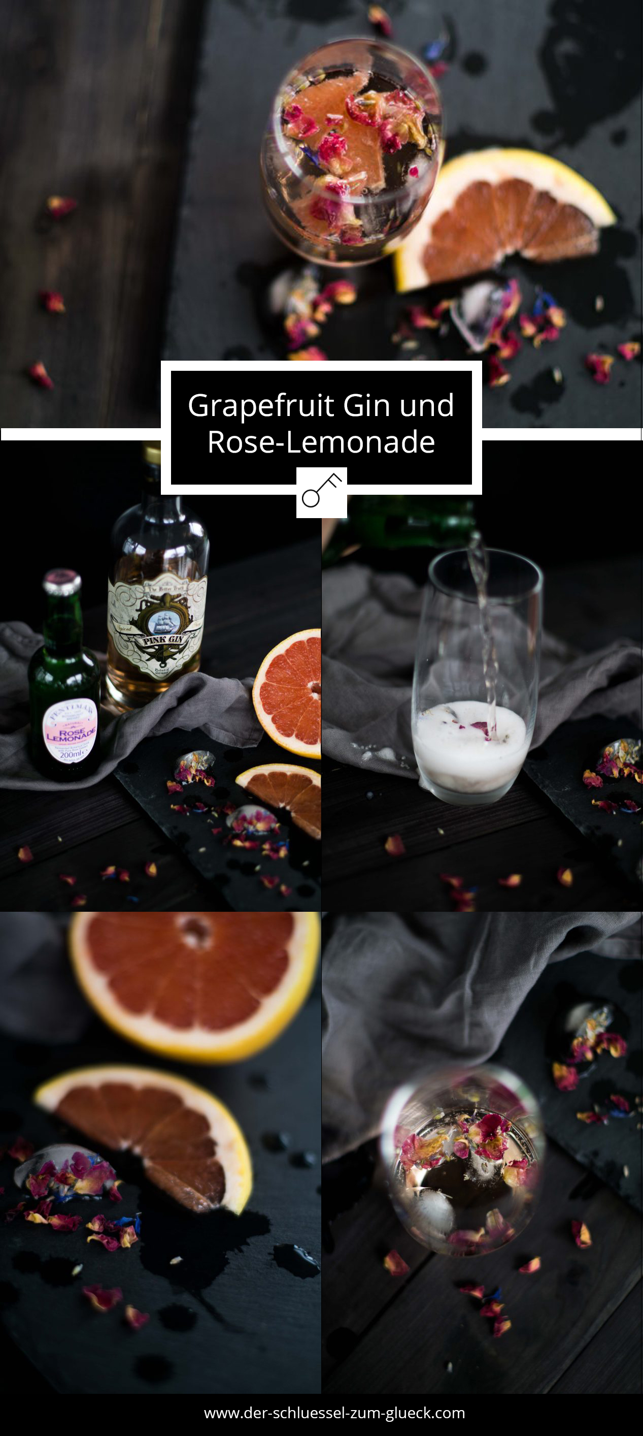 Grapefruit Gin + Rose Lemonade Step by Step