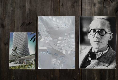 Mockup archiTEXTen Corbusier BIG Ghery