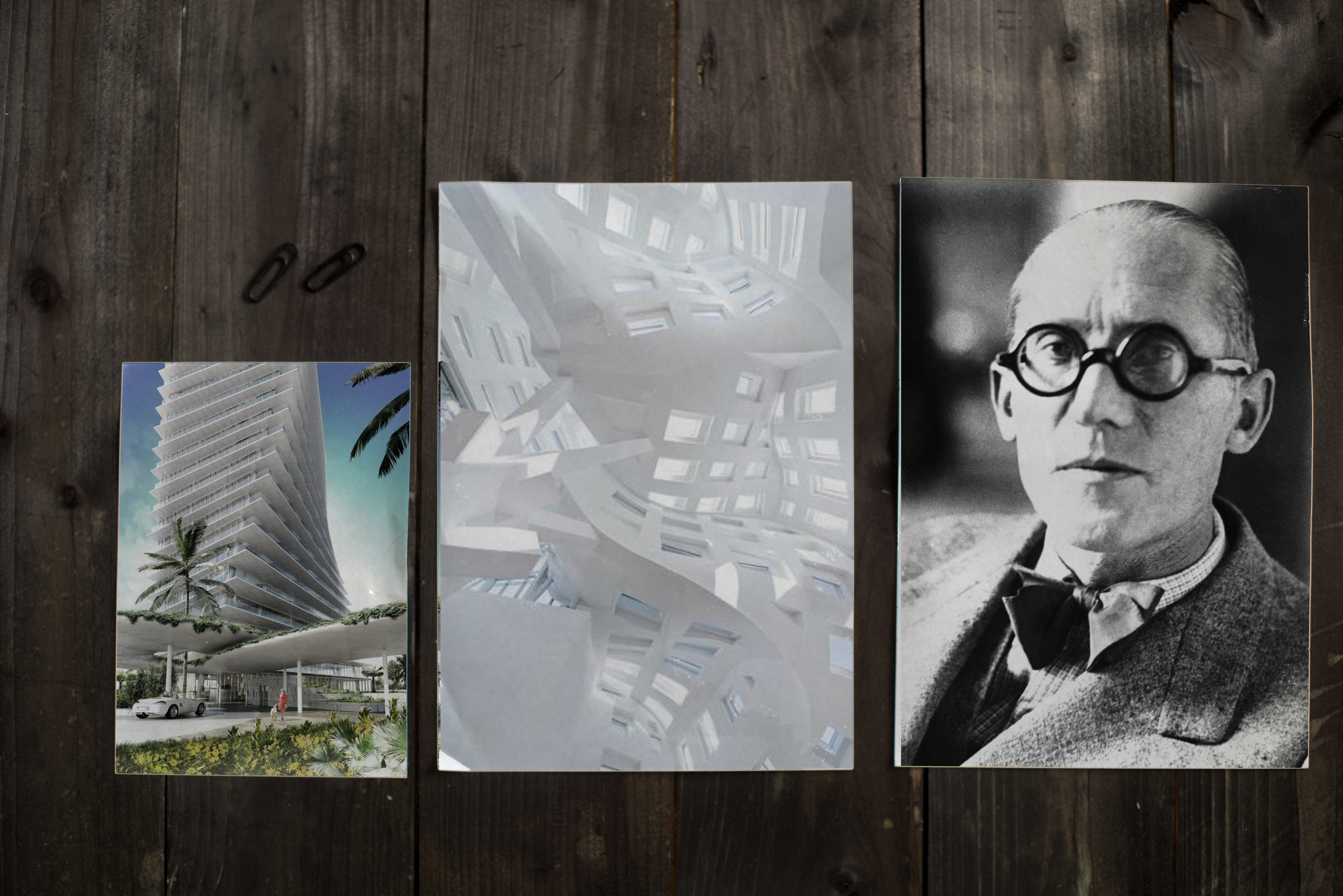 Mockup archiTEXTen Corbusier BIG Ghery