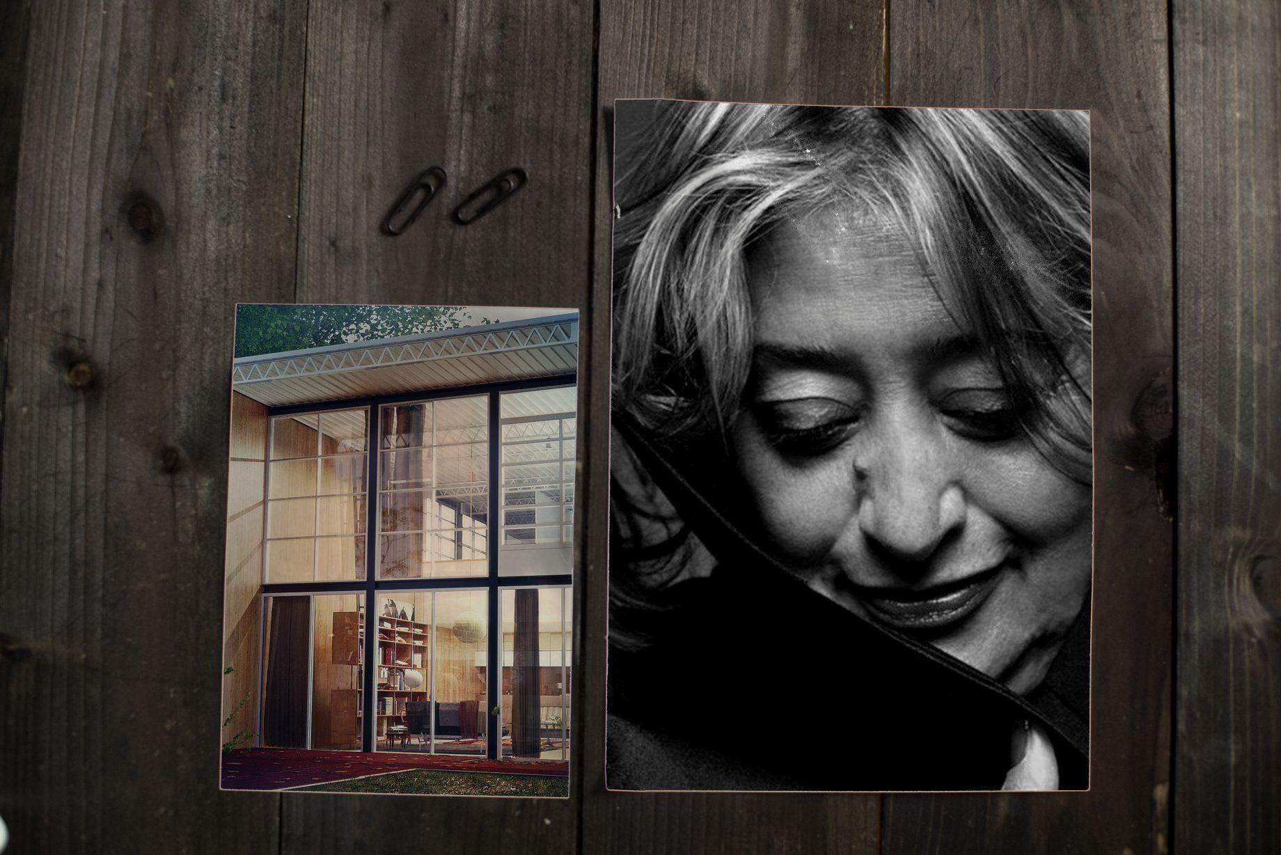Mockup archiTEXTen Zaha Hadid Eames House Architektur