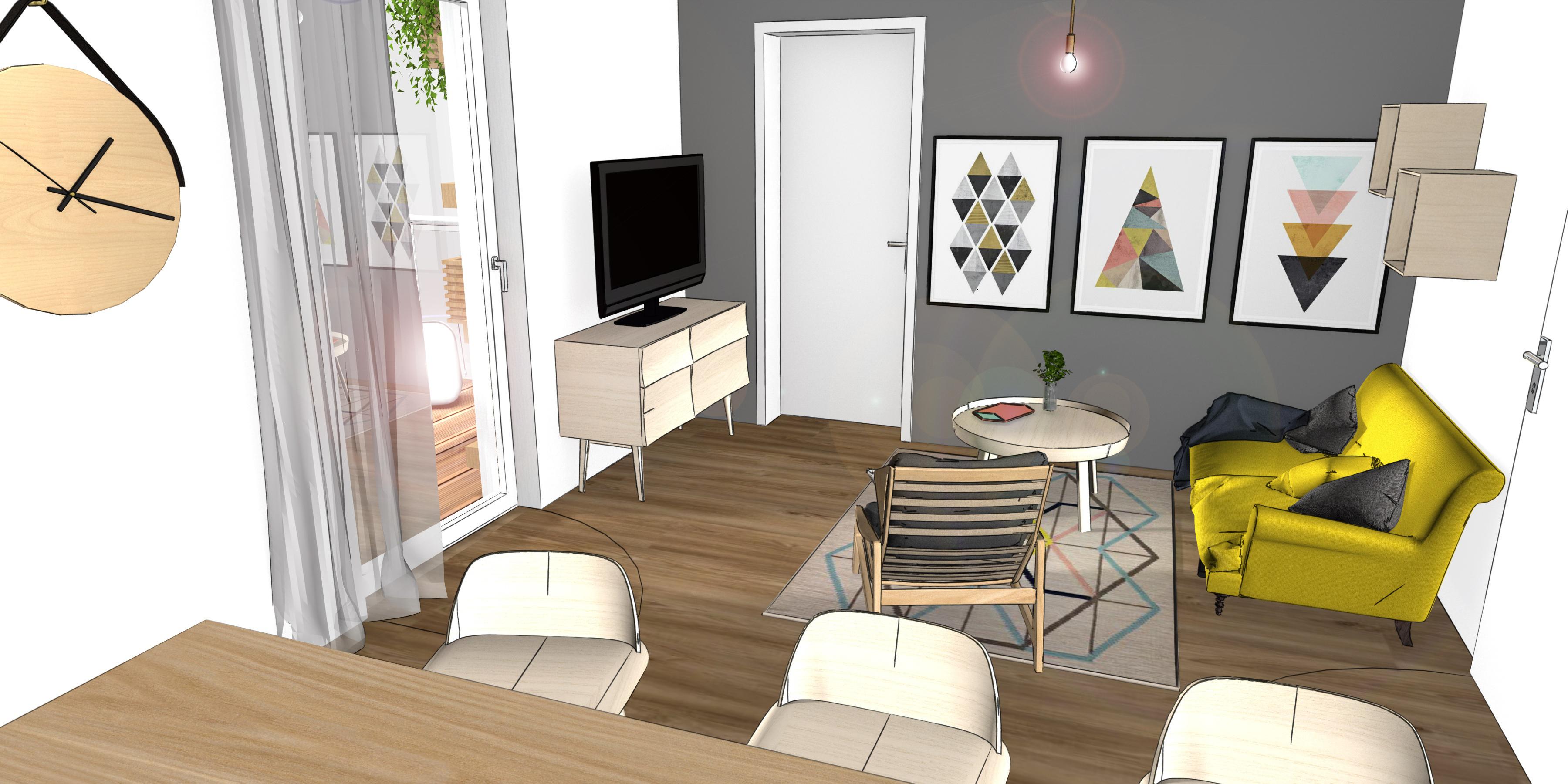 Visualisierung mittels 3D Rendering. Innenarchitektur Entwurf, Möblierung, Innenarchitekt