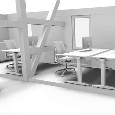 Rendering 3D skizze Tonmodus Schwarz weiß