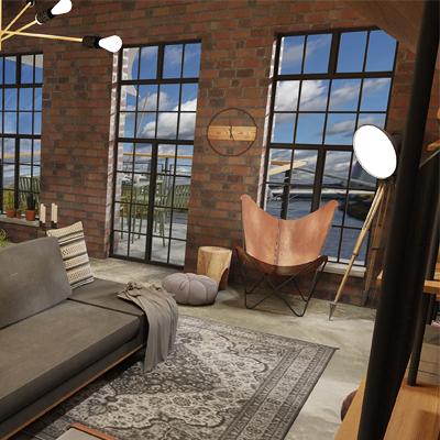 Balkon, Terrasse, Loft, Industrieloft Umnutzung eines ehemaligen BEtriebsgebäudes, Industriestil